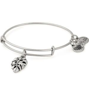 Alex and Ani Palm Leaf Charm Bracelet NWT